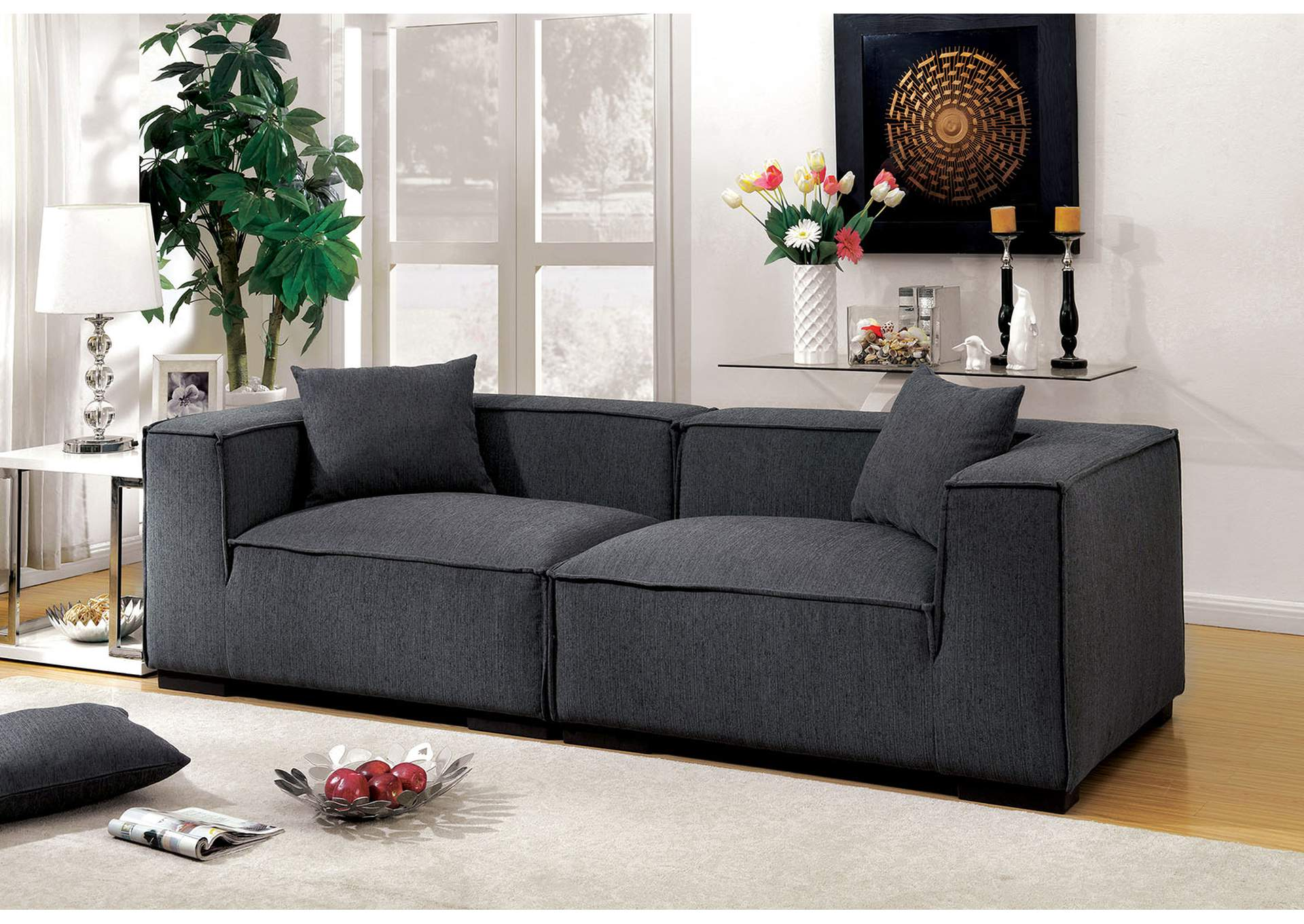 Langdon Gray Sofa,Furniture of America