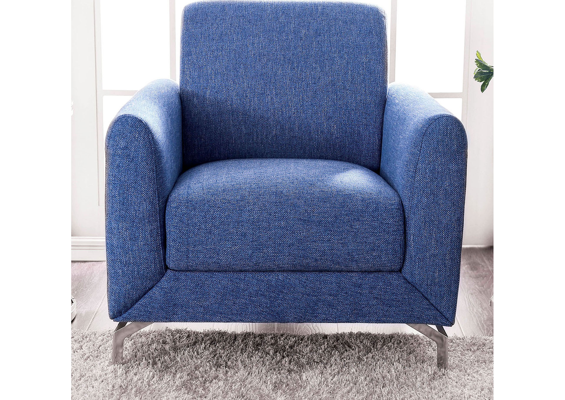 Lauritz Blue Chair,Furniture of America