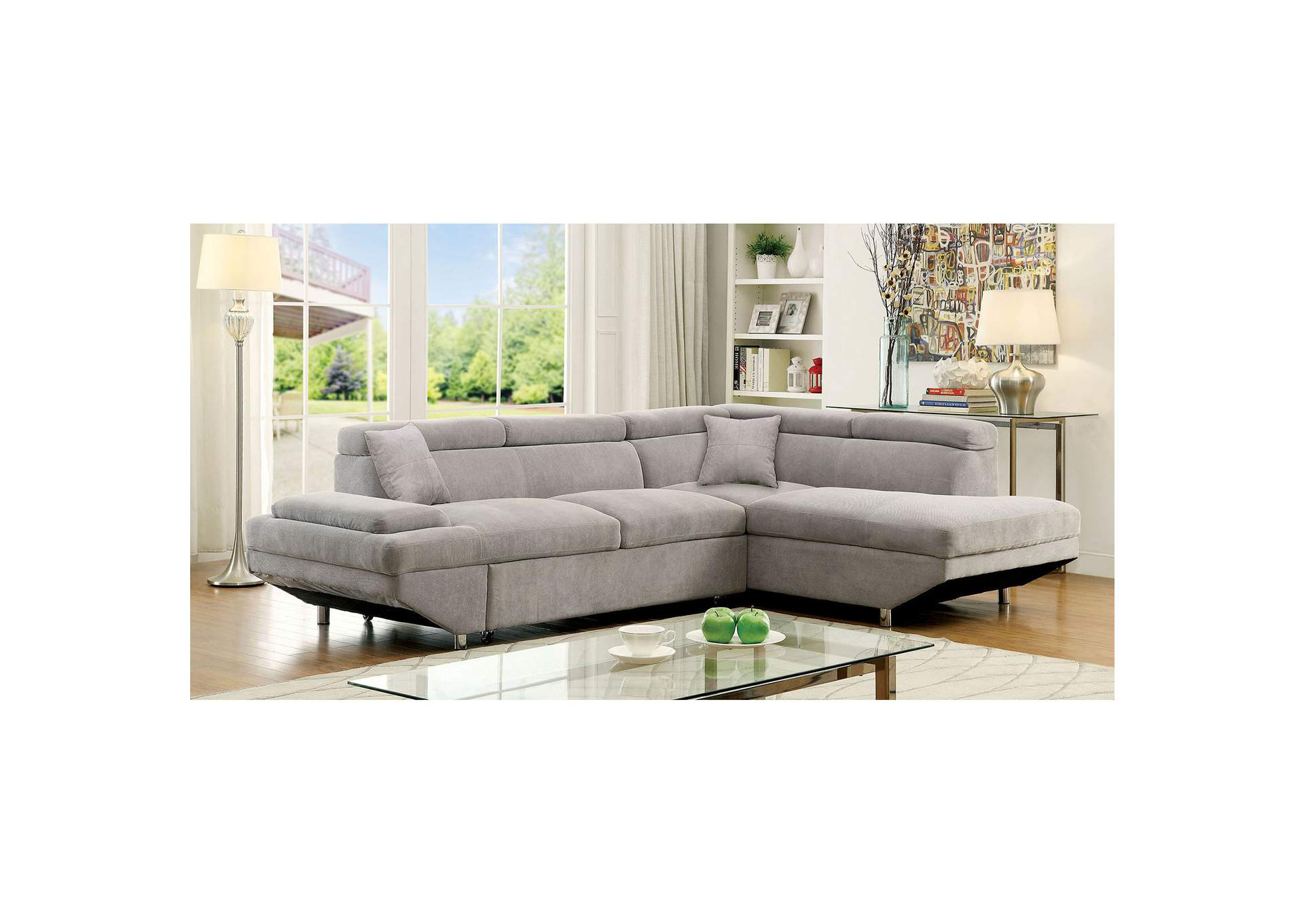Foreman Gray Sectional,Furniture of America