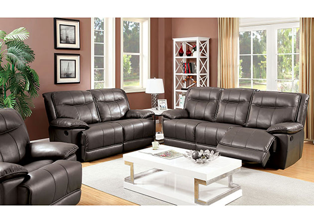 peaceful living furniture dolton gray sofa and loveseat