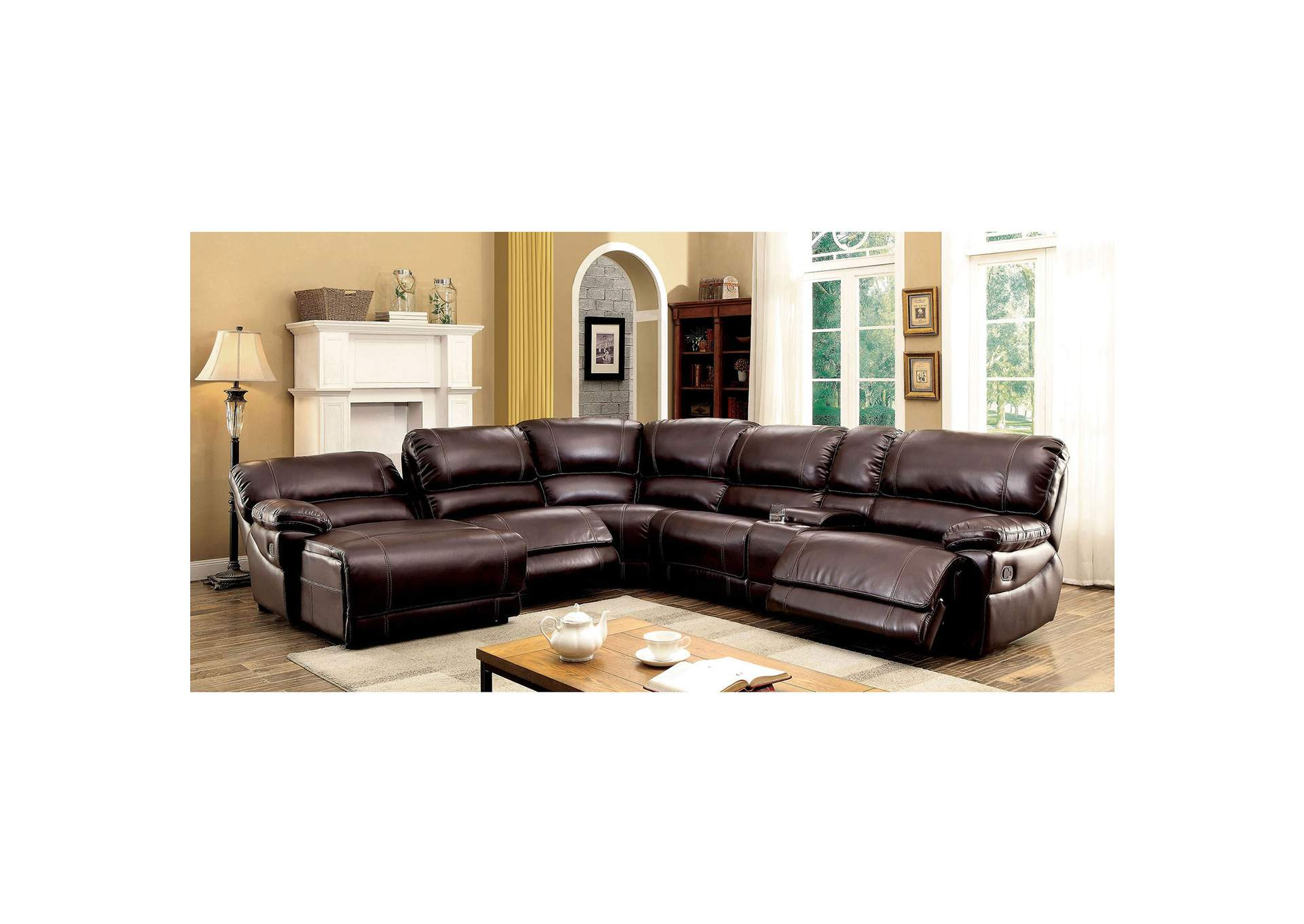 Estrella Brown Sectional,Furniture of America