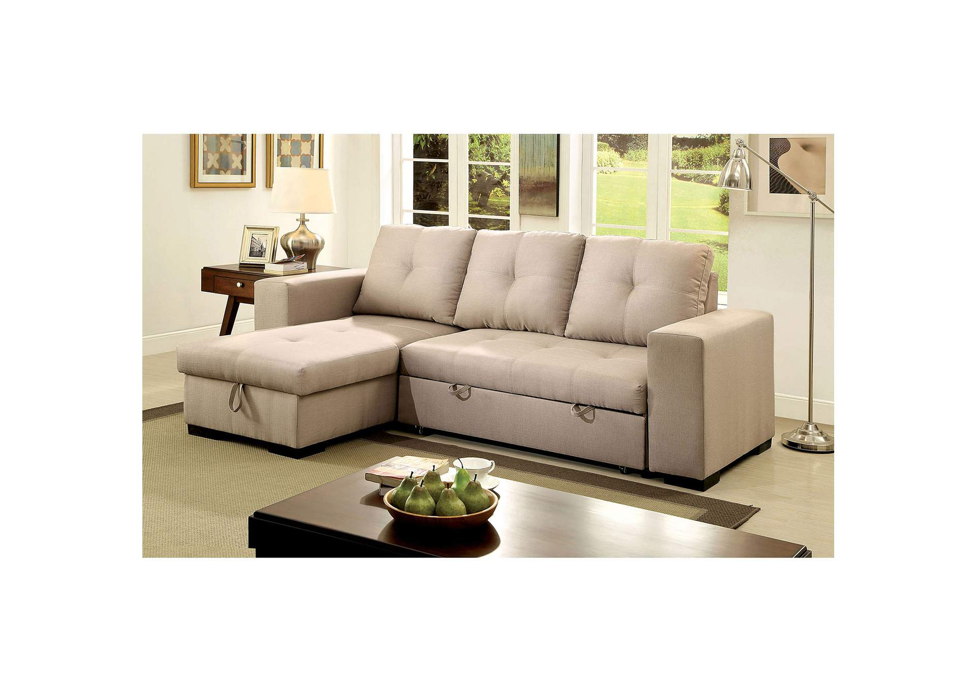 Denton Ivory Sectional,Furniture of America