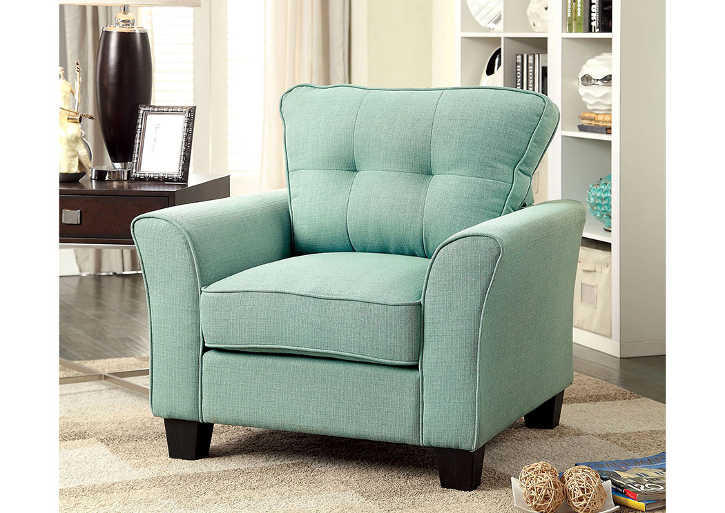 Claire Blue Single Chair,Furniture of America