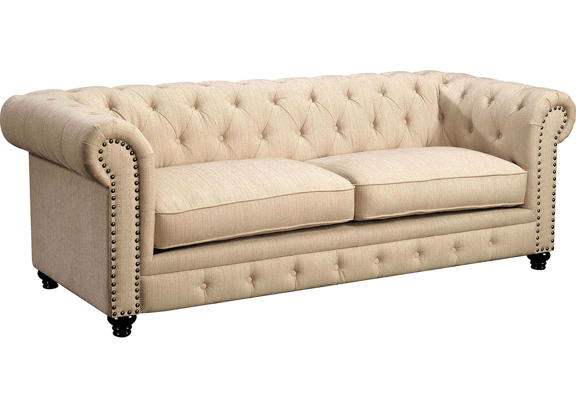 Stanford Ivory Sofa,Furniture of America
