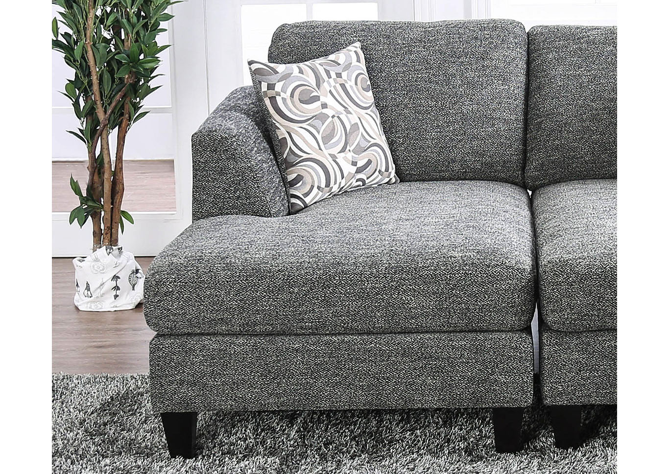 Lowry Gray Left Chaise,Furniture Of America