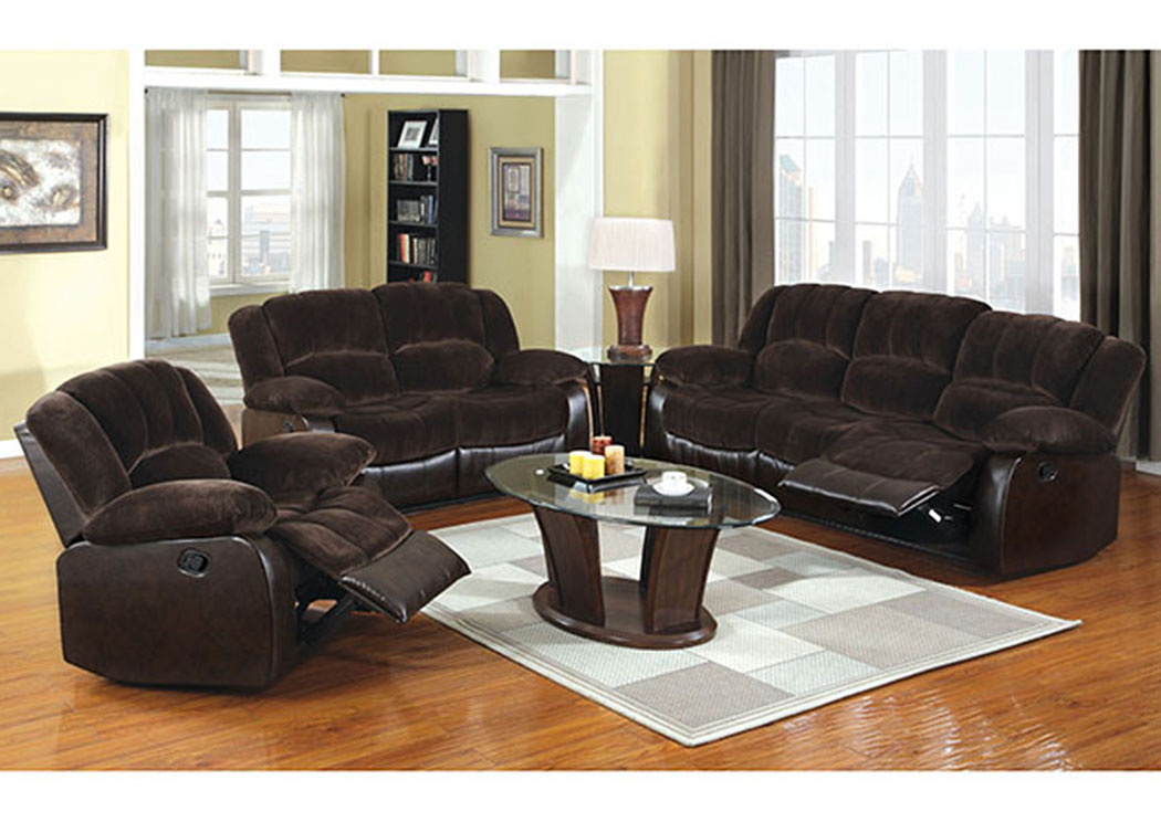 Winchester Brown Champion Sofa and Loveseat,Furniture of America