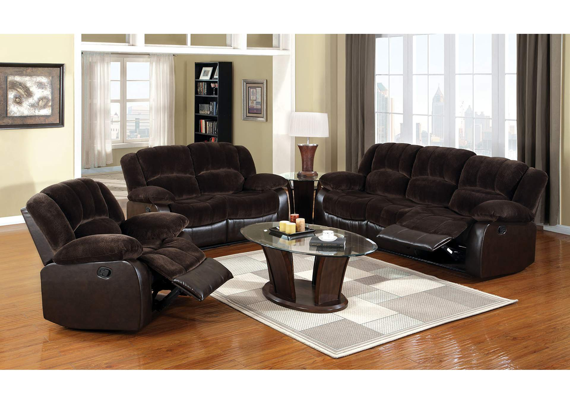 Winchester Brown Champion Loveseat,Furniture of America