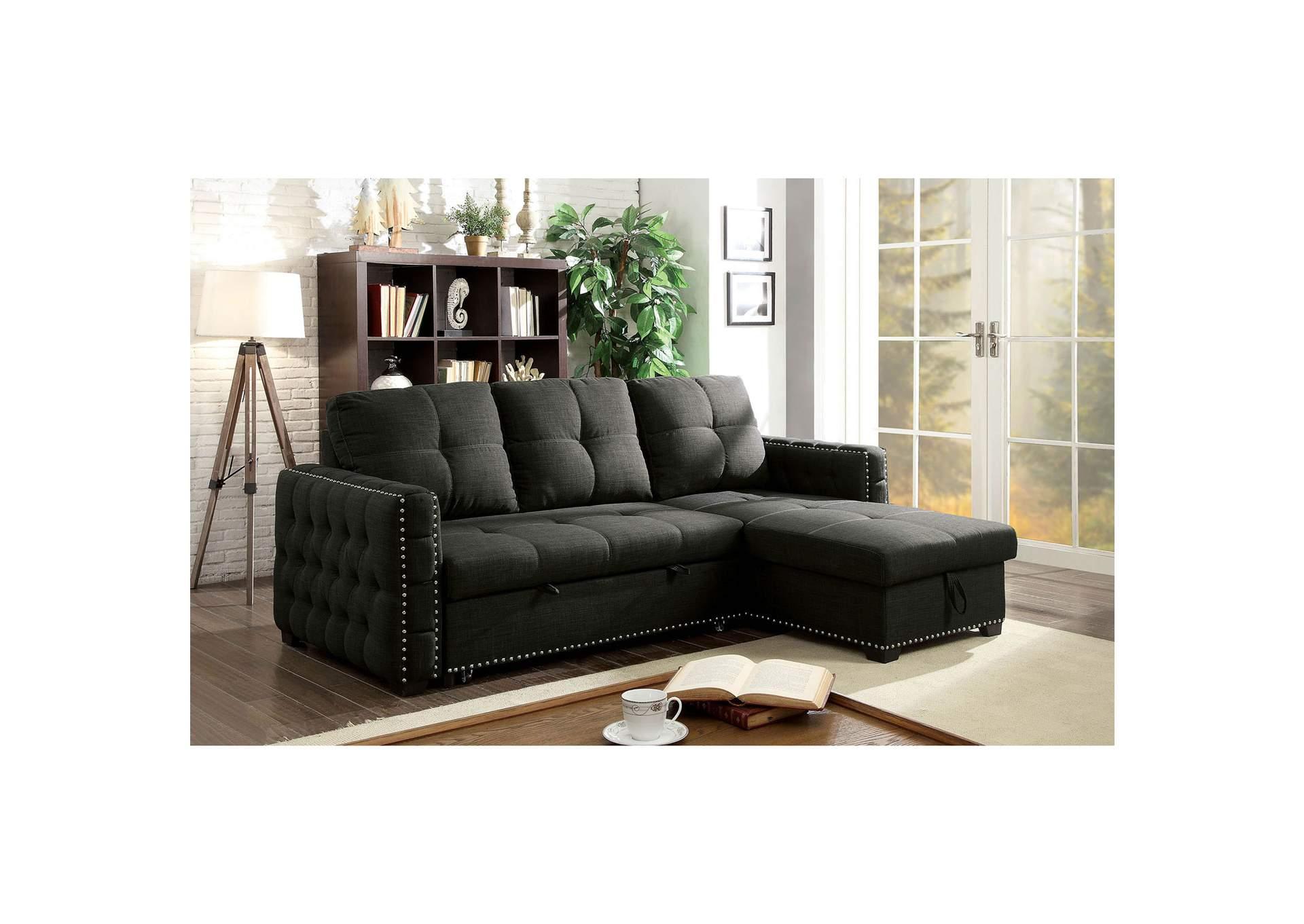 Dfw Furniture Warehouse Ca Demi Dark Gray Sectional