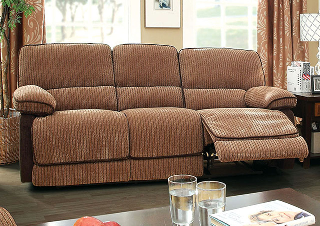 278640 Hazlet Brown Chenille Reclining Sofa