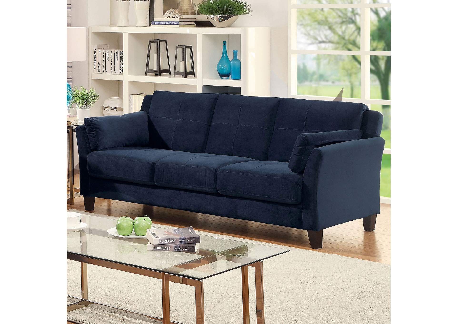 Add Charm Living Room Sets Ysabel Navy Sofa,Furniture of America