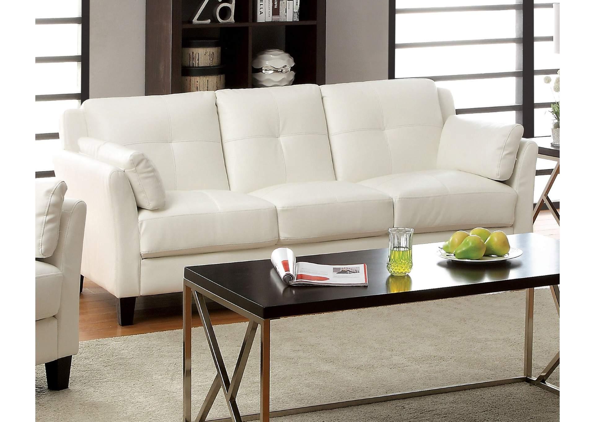 Pierre White Sofa,Furniture Of America