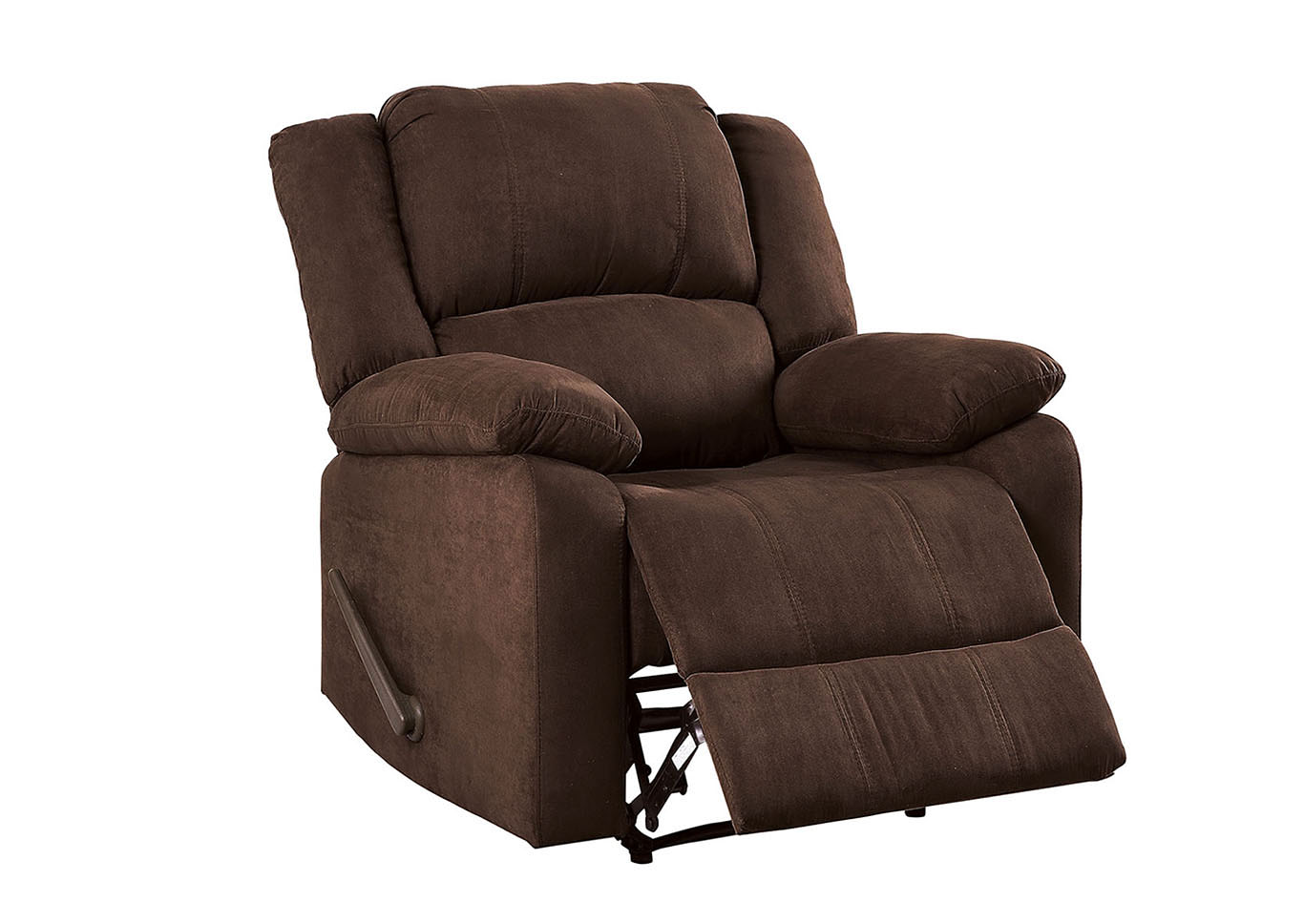 McLaughlin Brown Leatherette Recliner,Furniture of America