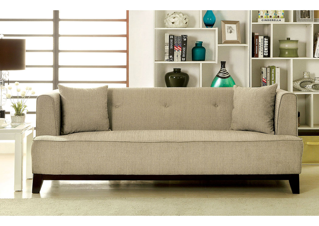 Sofia Beige Sofa,Furniture of America