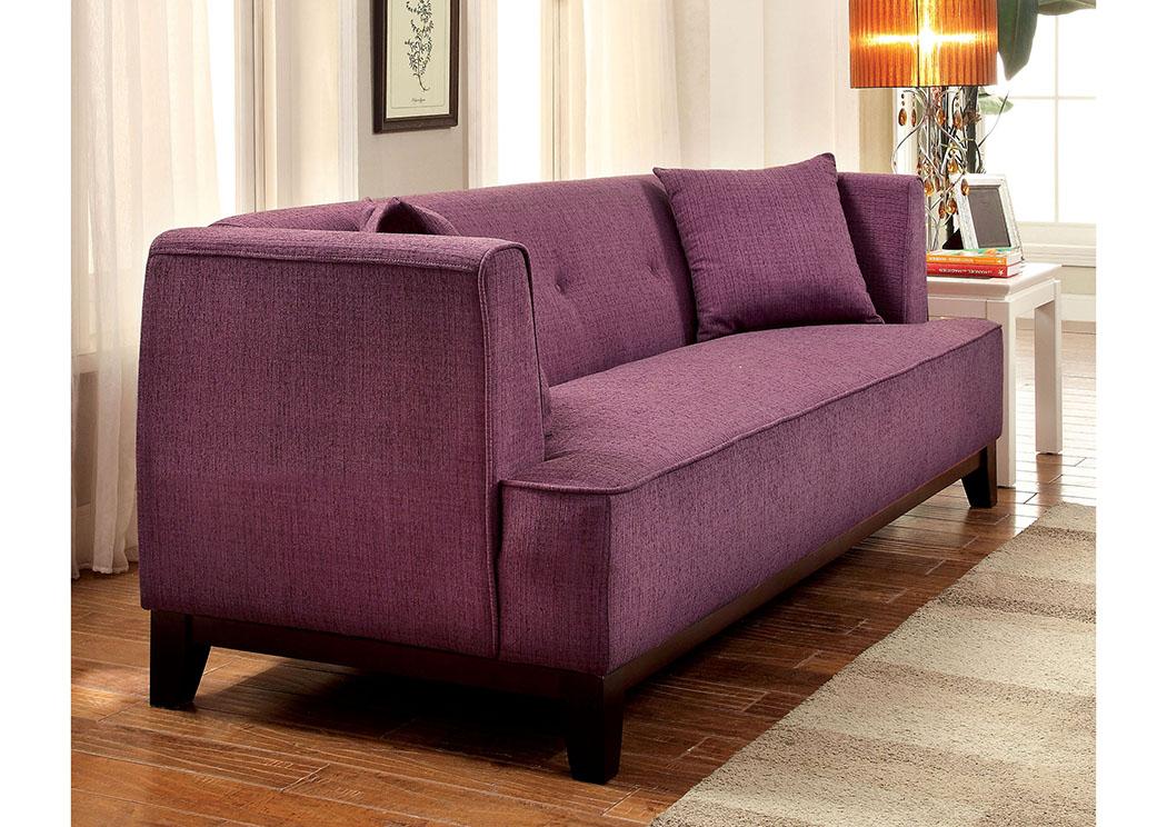 Overstock Furniture Tx Sofia Purple Loveseat