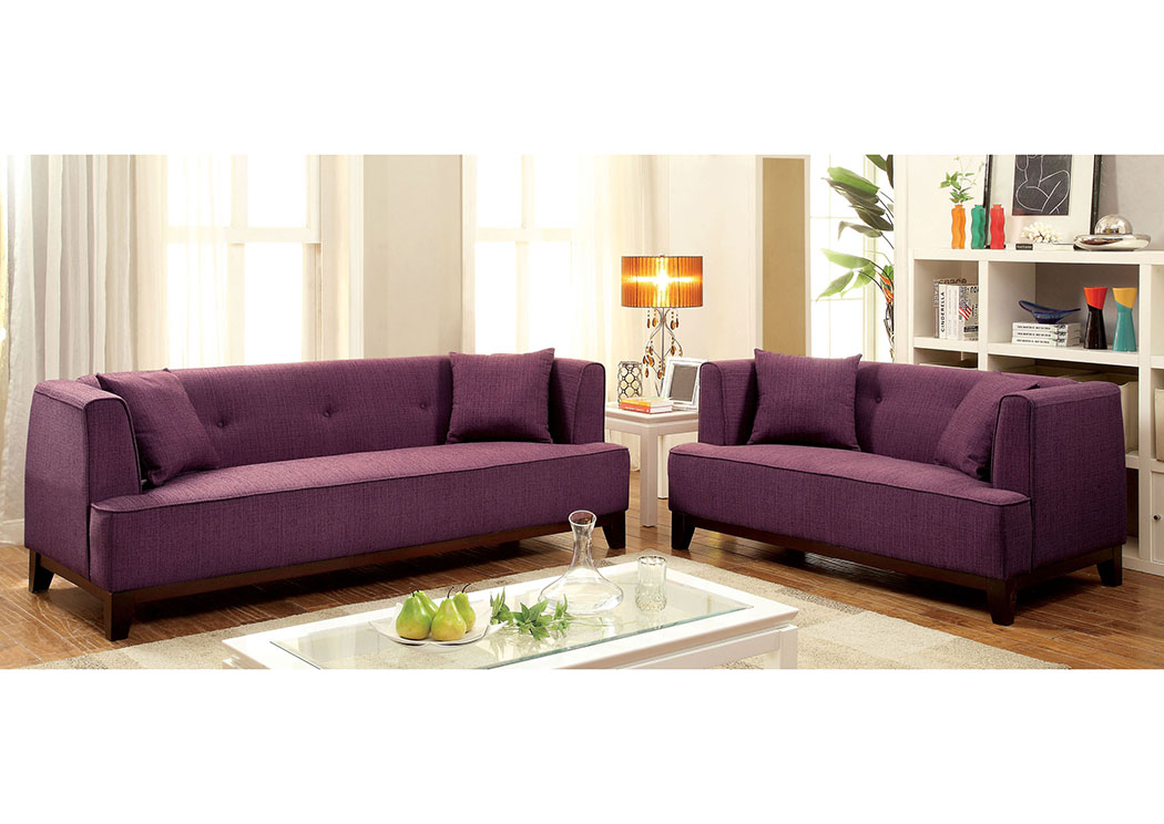 Best Buy Furniture And Mattress Sofia Purple Sofa And Loveseat