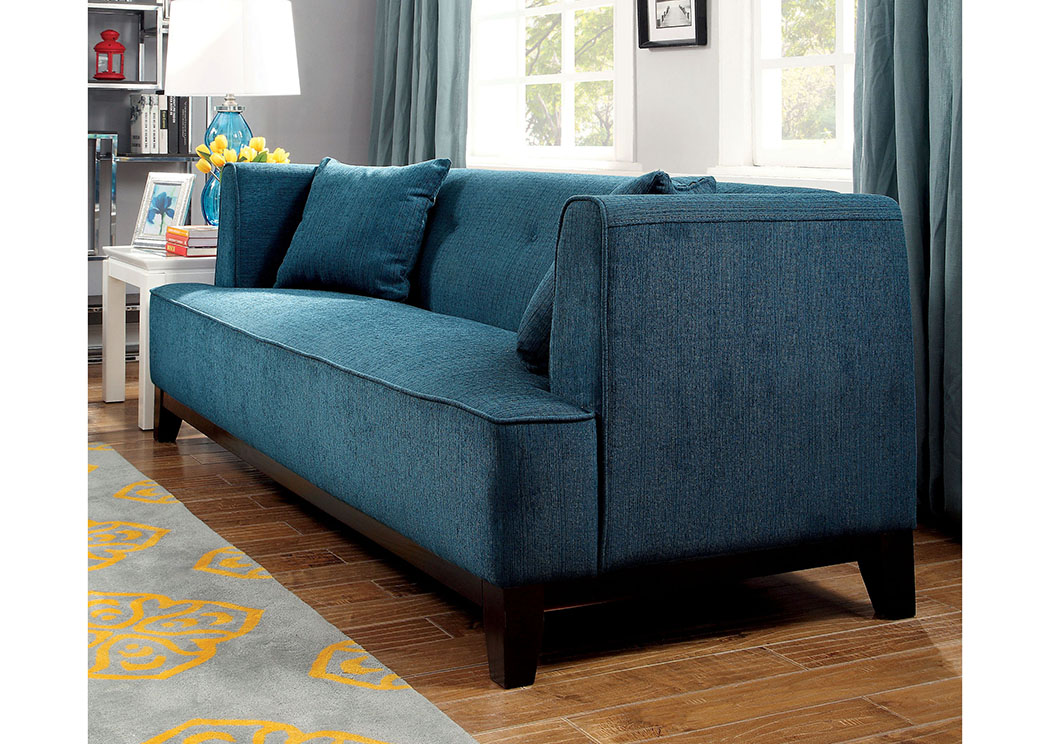 Sofia Dark Teal Loveseat,Furniture of America