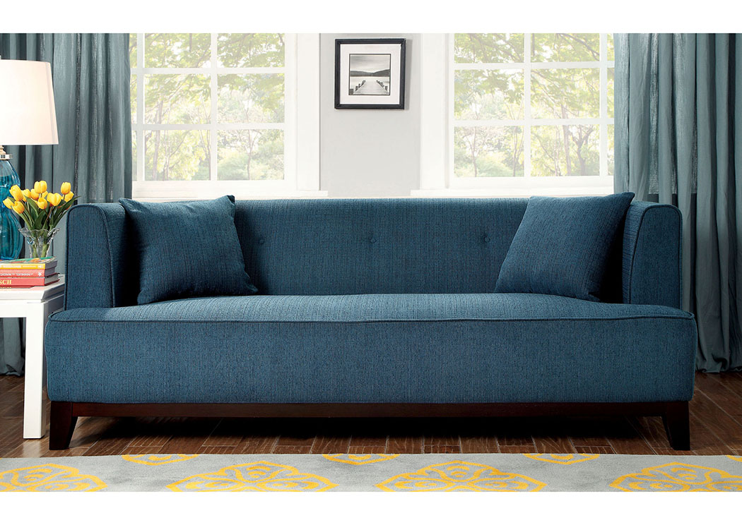Sofia Dark Teal Sofa,Furniture of America