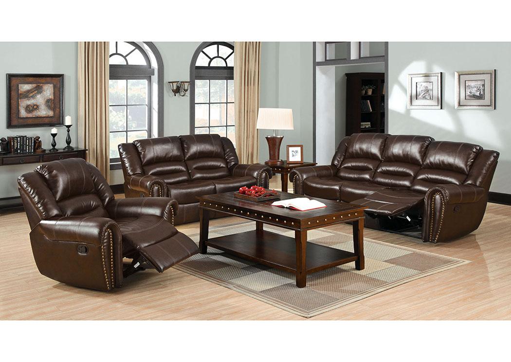 Excellent 252949 Dundee Dark Brown Sofa And Loveseat W 4 Recliners Inzonedesignstudio Interior Chair Design Inzonedesignstudiocom