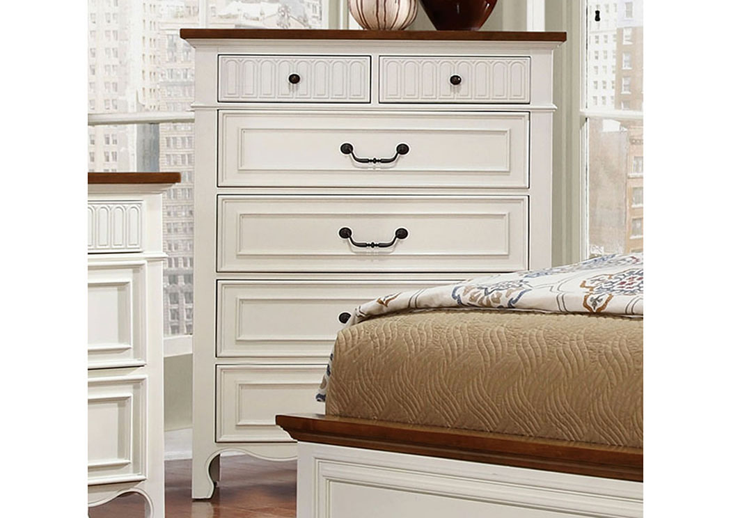 Long Island Discount Furniture Galesburg White Oak Drawer Chest