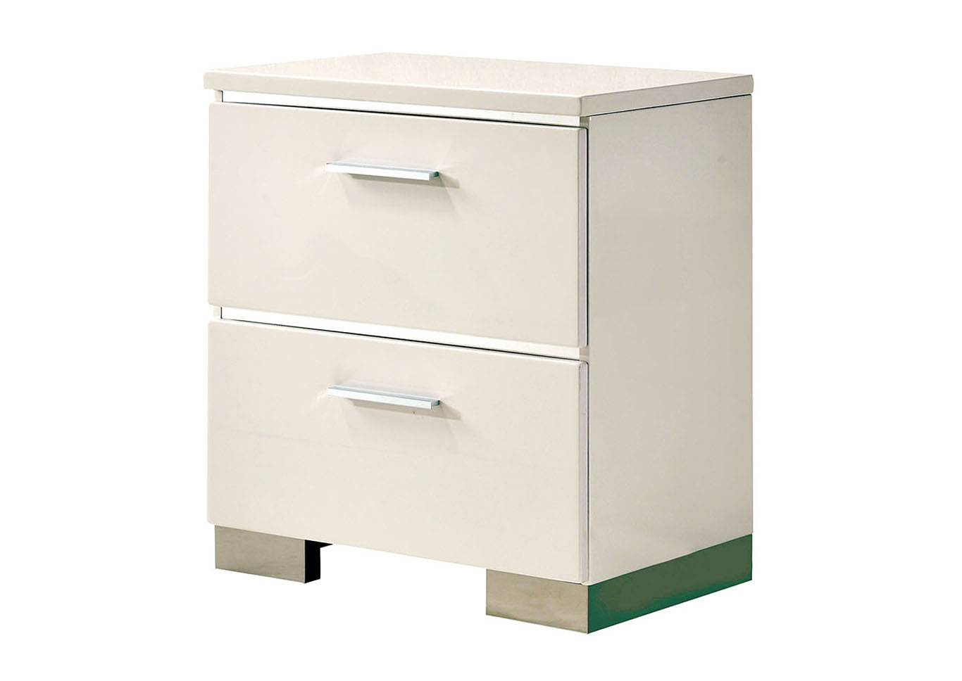 Malte White Night Stand,Furniture of America