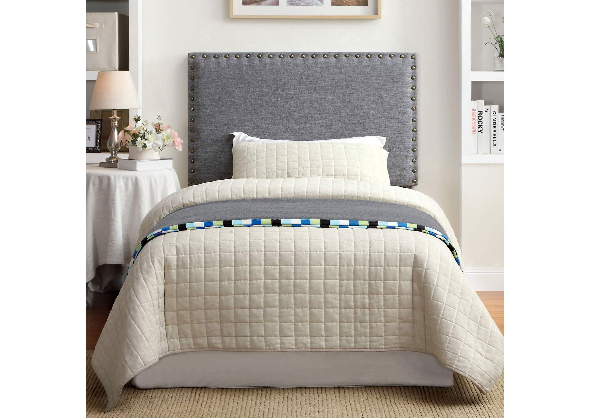 Herstal Grey Queen Headboard,Furniture of America