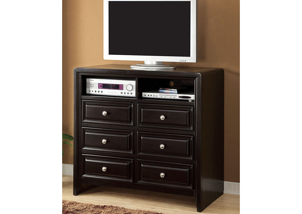 Yorkville Espresso Media Chest,Furniture of America