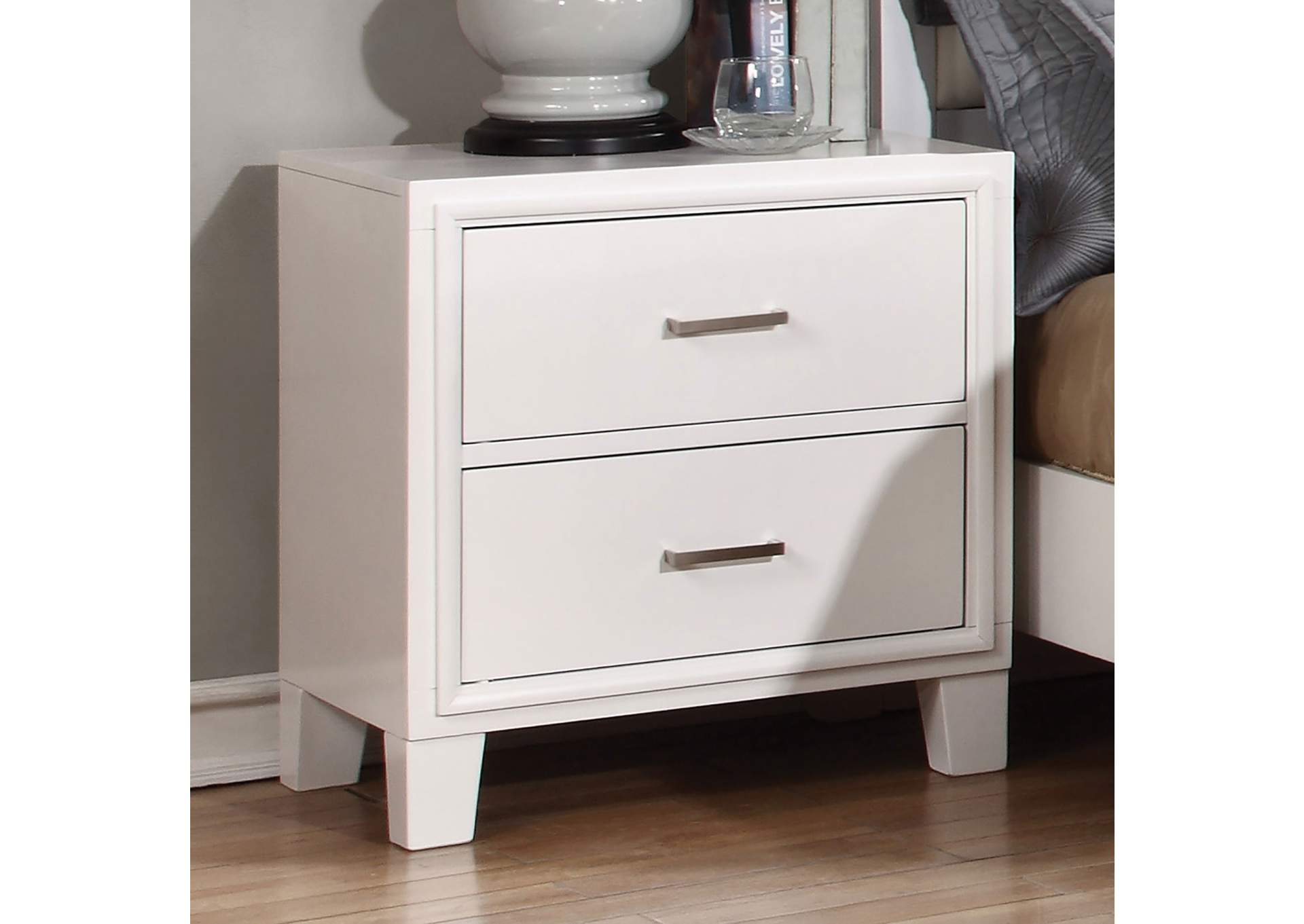 Enrico I White Nightstand,Furniture of America