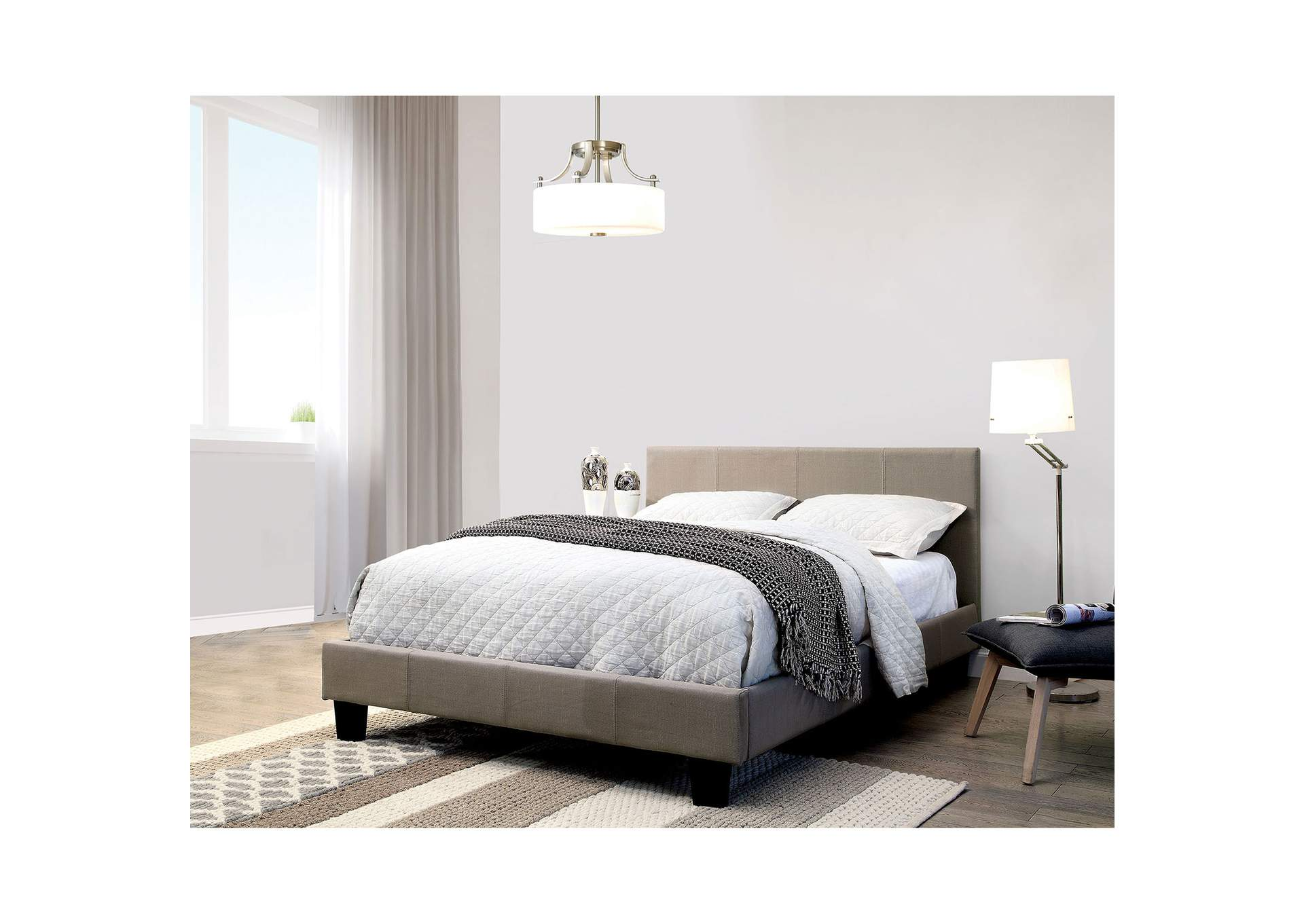 Sims Gray Twin Platform Bed,Furniture of America