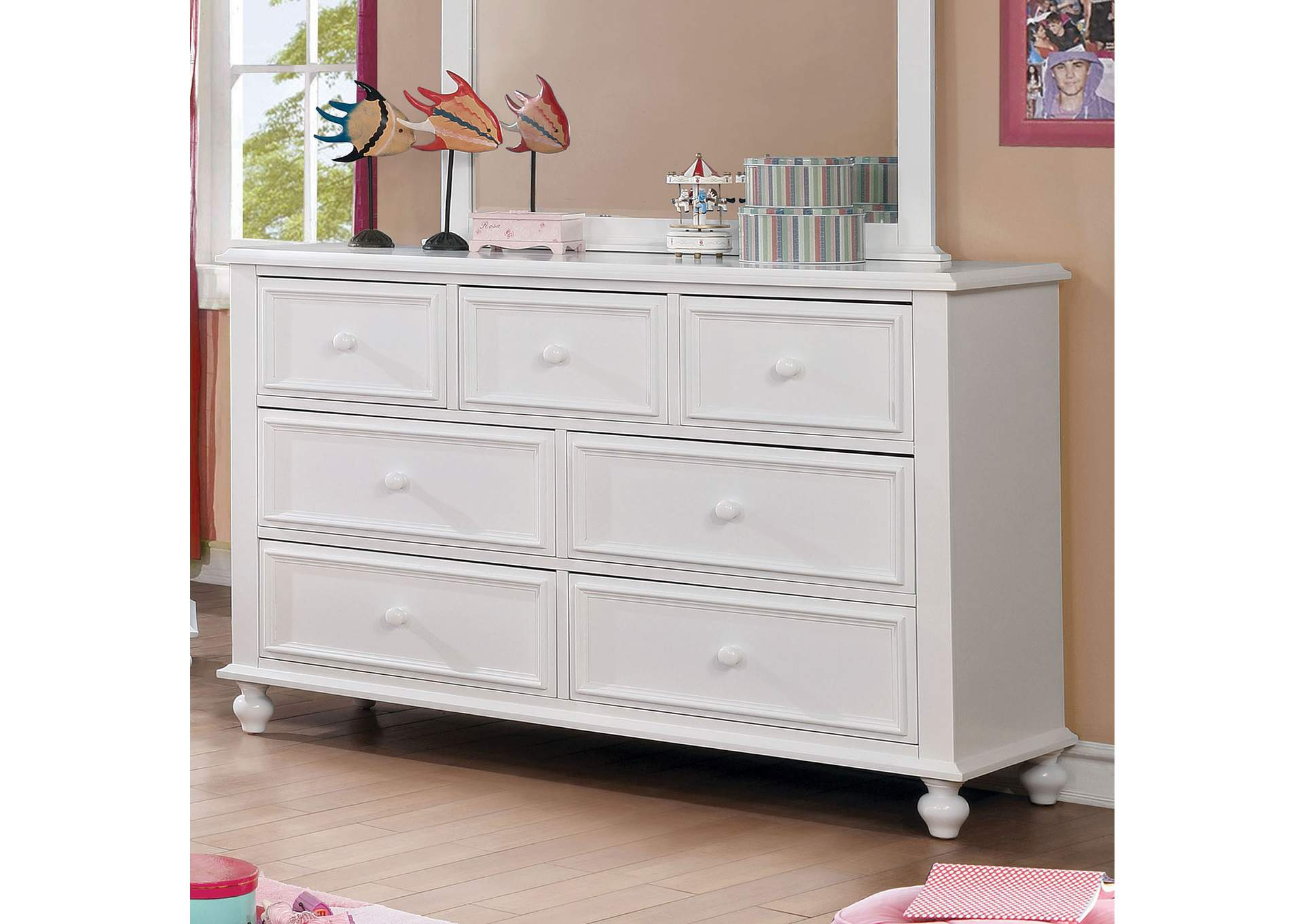 Olivia White Dresser,Furniture of America