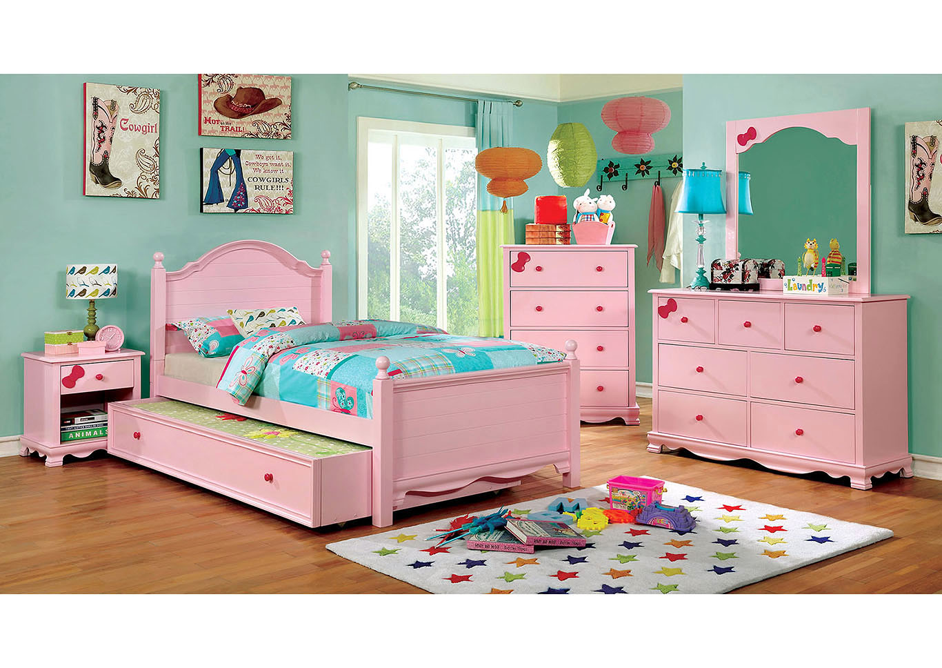 Beds To Go Dani Pink Twin Platform Bed