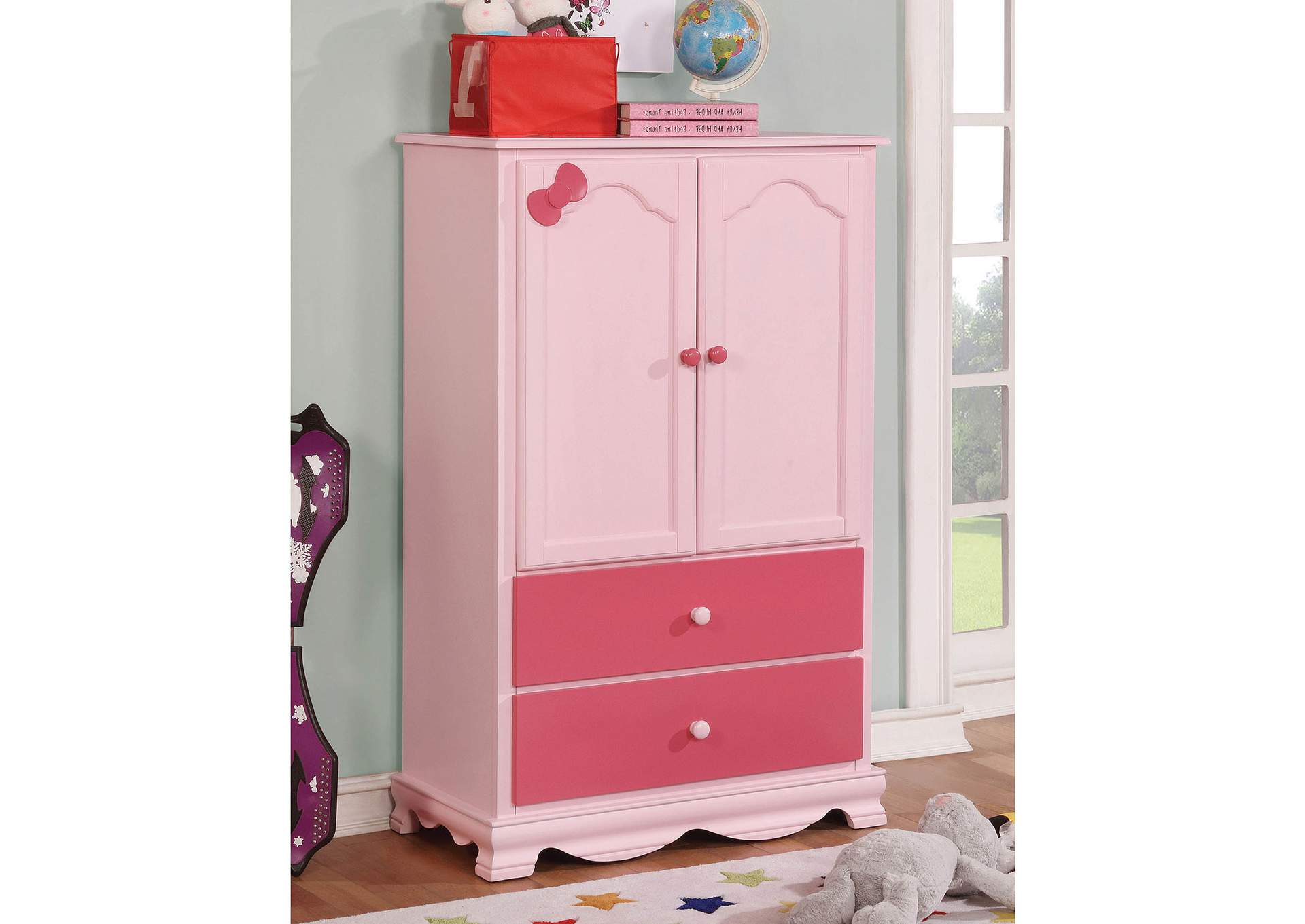 Dani Pink Armoire,Furniture of America TX