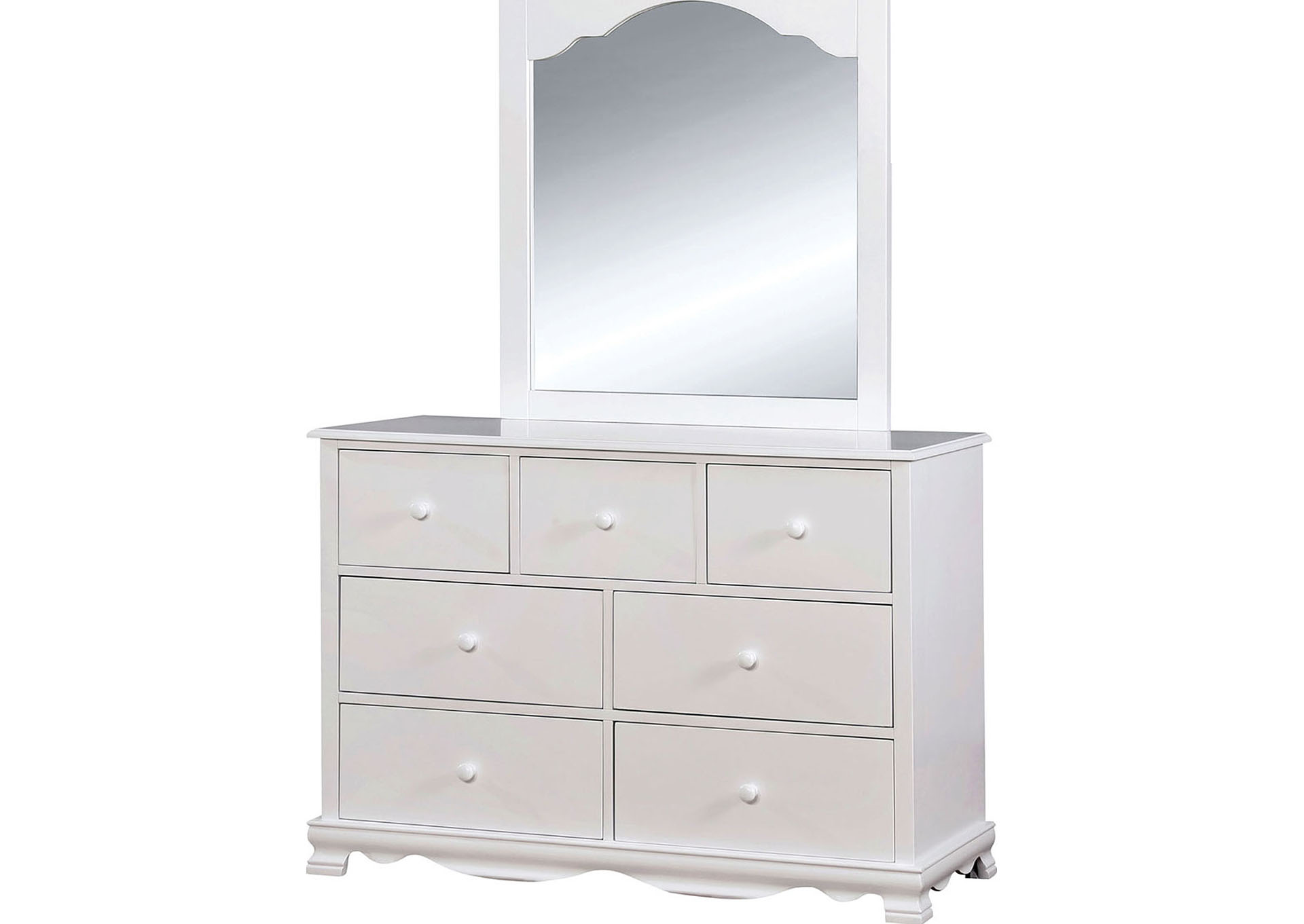 Dani White Dresser,Furniture of America