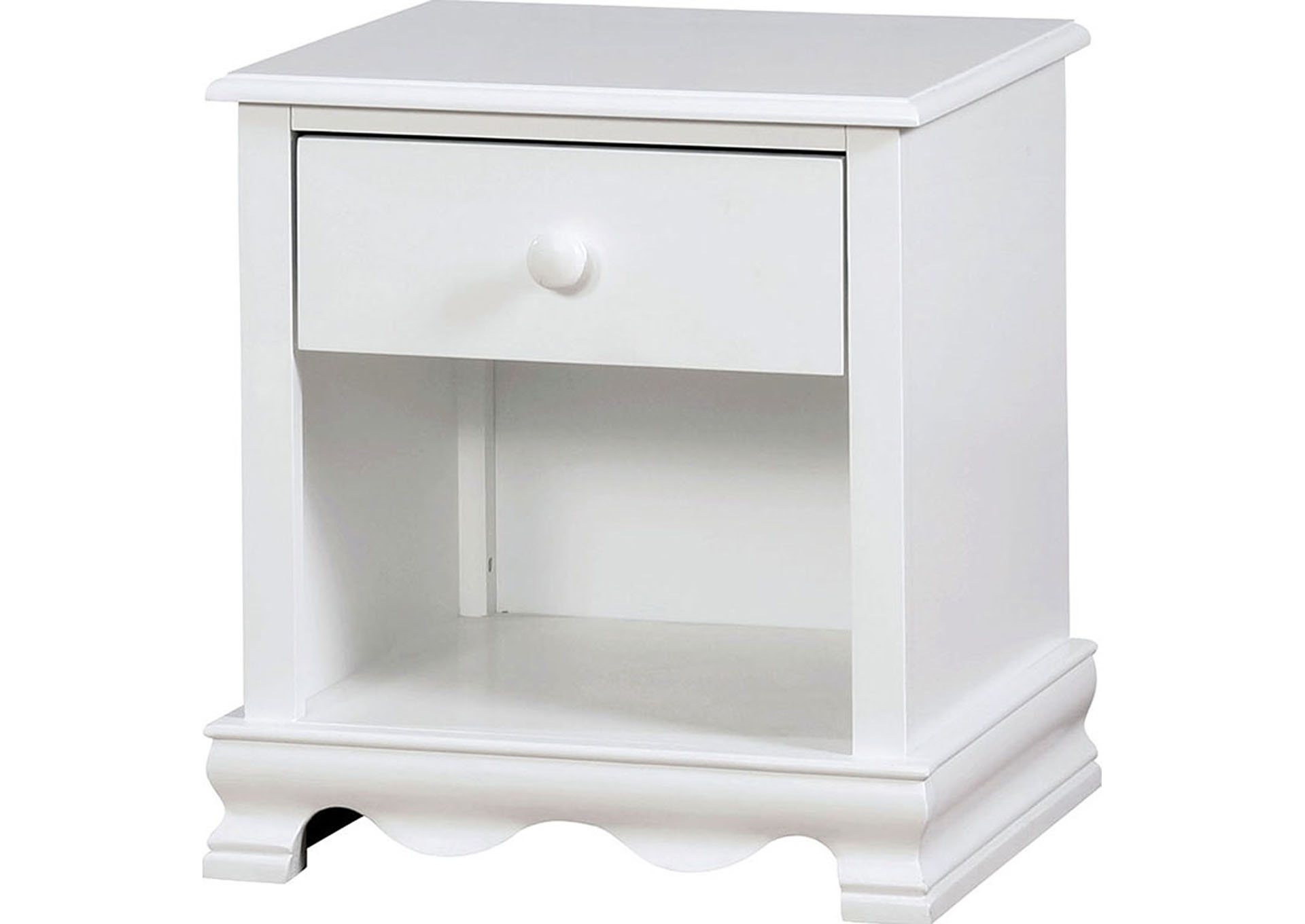 Dani White Nightstand,Furniture of America TX