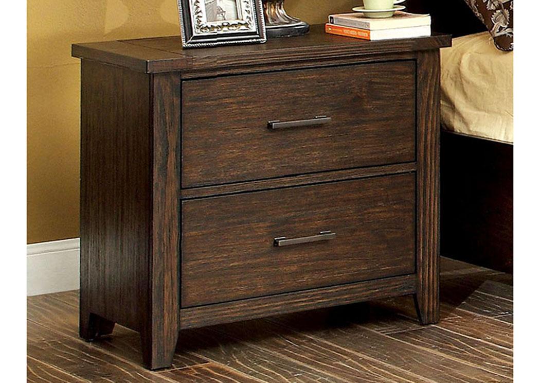 Furniture Discounter Ribeira Dark Walnut Nightstand