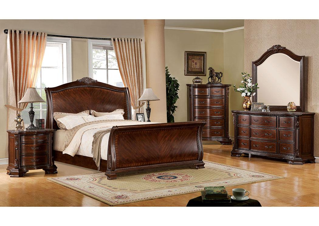 Bay Shore Furniture   Bay Shore, NY Penbroke Brown Cherry Queen