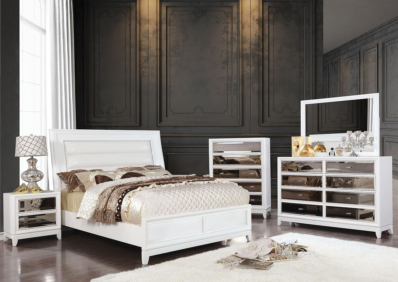 Golva White Chest,Furniture of America