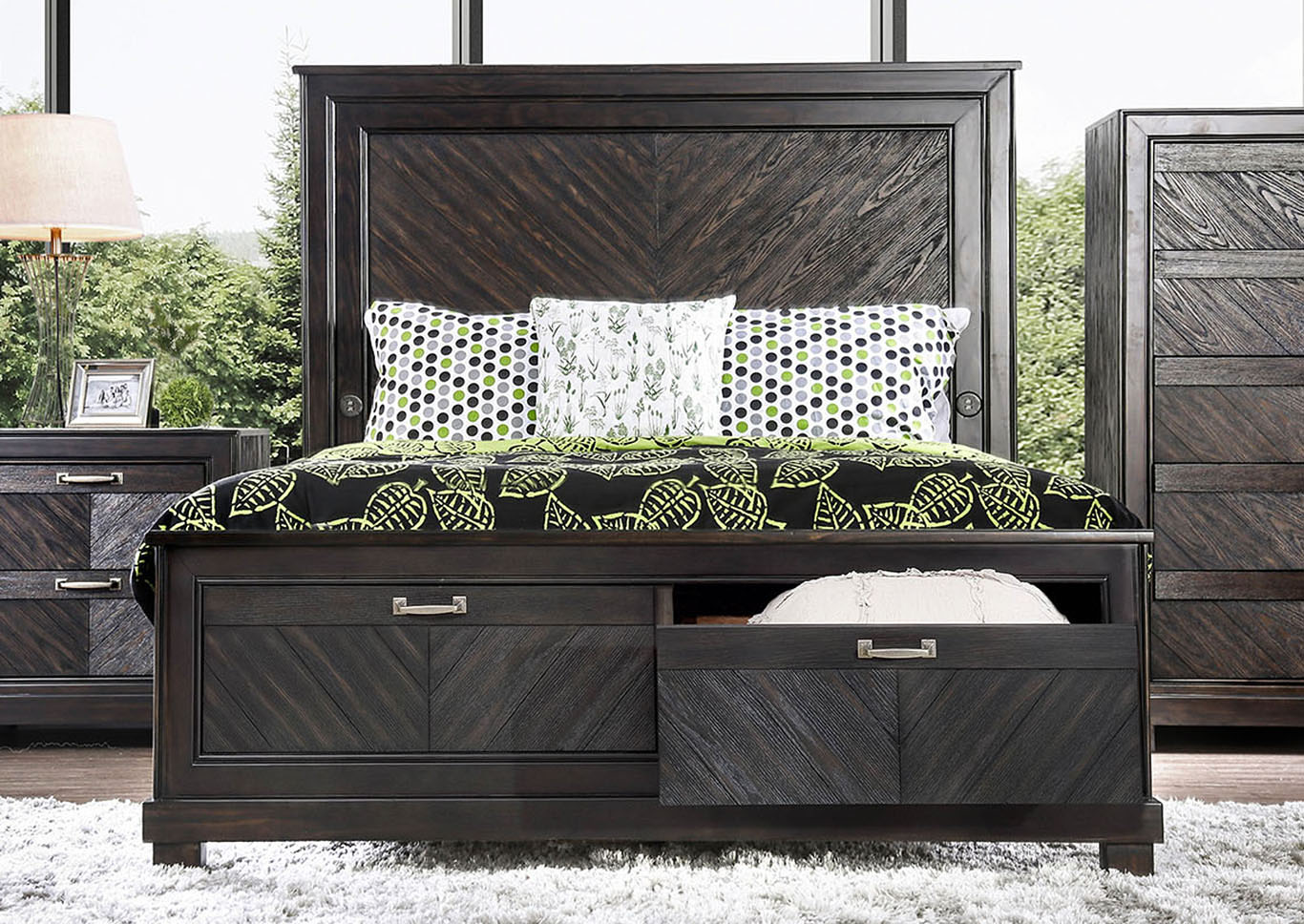 Argyros California King Bed,Furniture of America