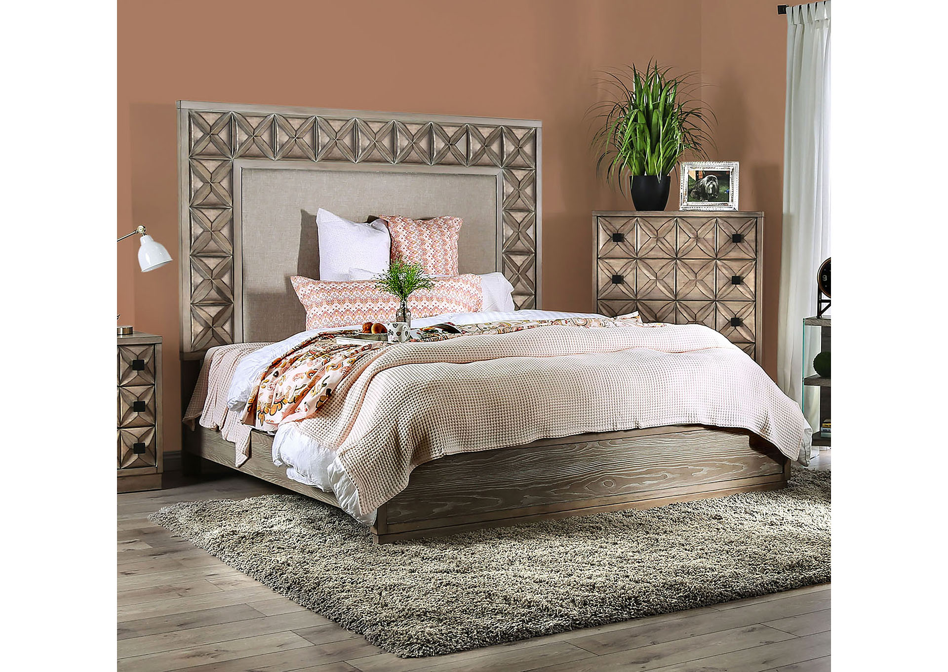 Markos Eastern King Bed,Furniture of America
