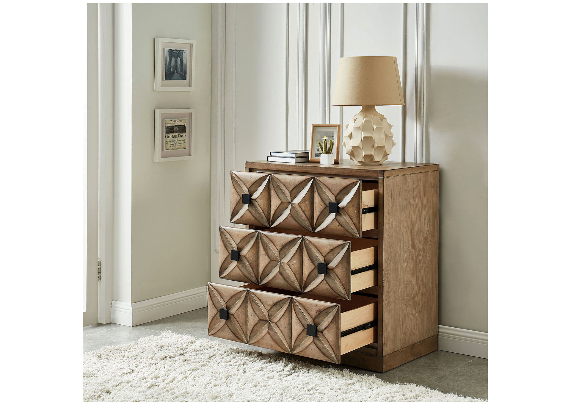 Markos Brown Hall Way Cabinet,Furniture of America