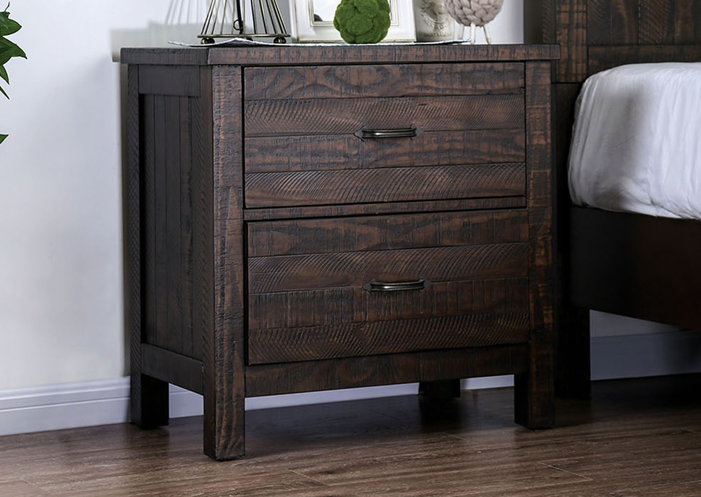 Brenna Espresso Nightstand,Furniture of America