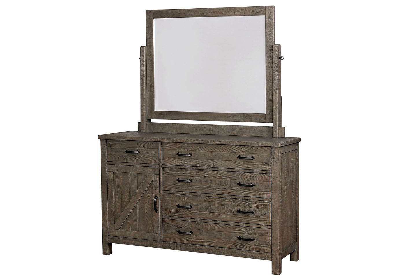 Brenna Gray Dresser w/Mirror,Furniture of America