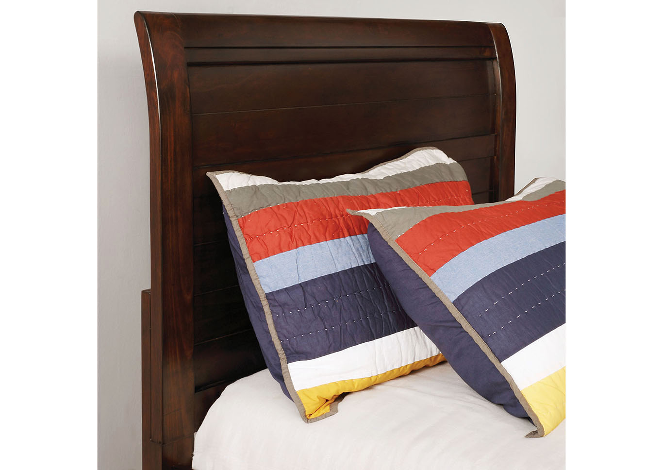 Brogan Brown Cherry Full Sleigh Bed,Furniture of America