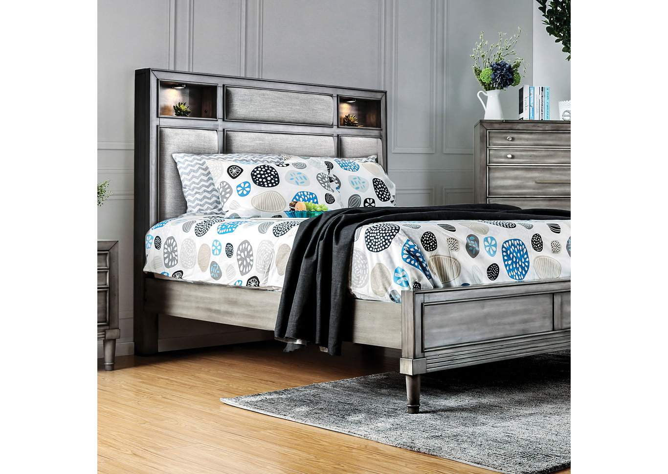 Daphne Gray Queen Bed,Furniture of America