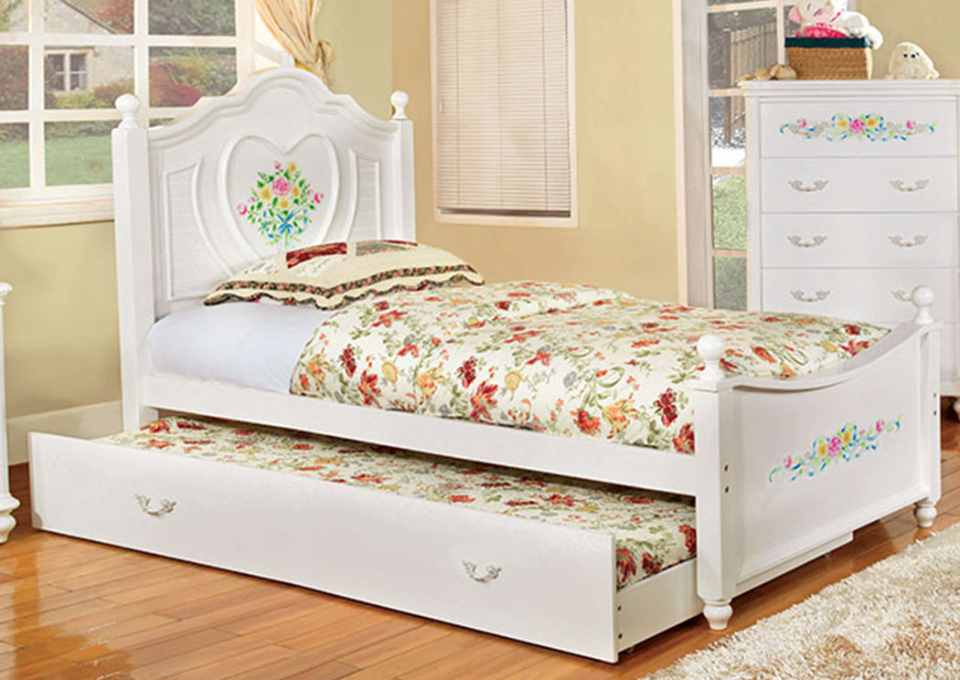 Isabella White Full Captain Bed,Furniture of America