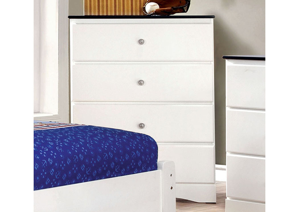 Kimmel Blue & White Drawer Chest,Furniture of America TX