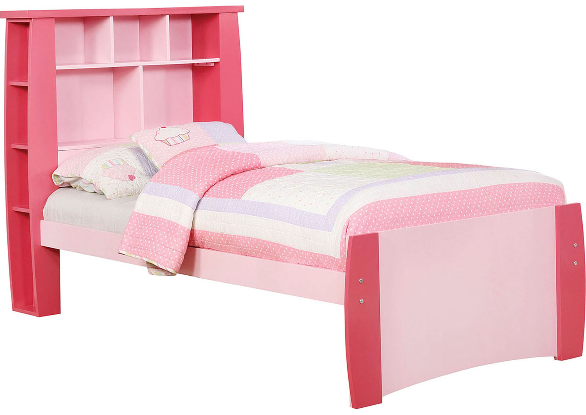 Marlee Pink Twin Bed,Furniture of America