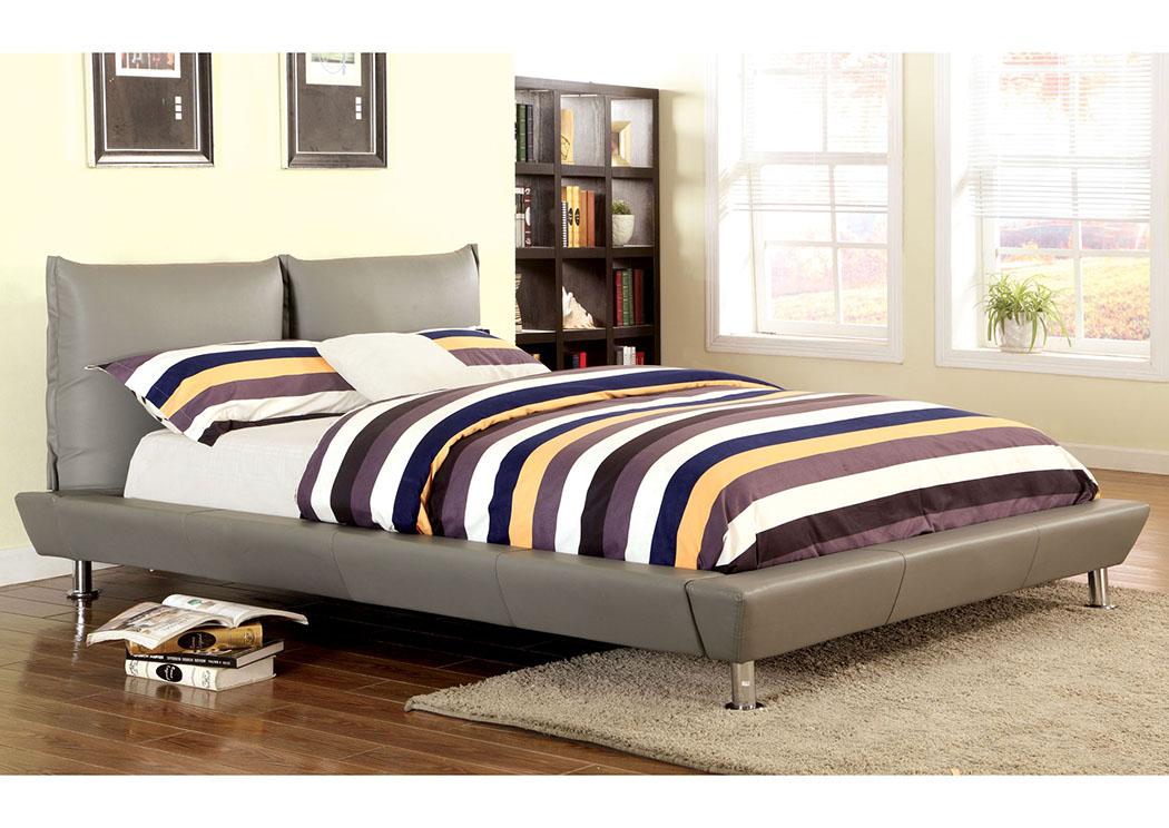 Palto Grey Queen Platform Bed,Furniture Of America