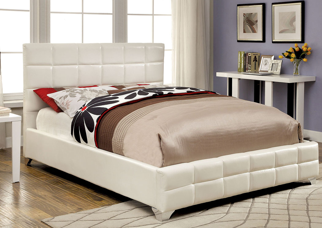 Furniture Ville - Bronx NY Rabia White Eastern King Platform Bed