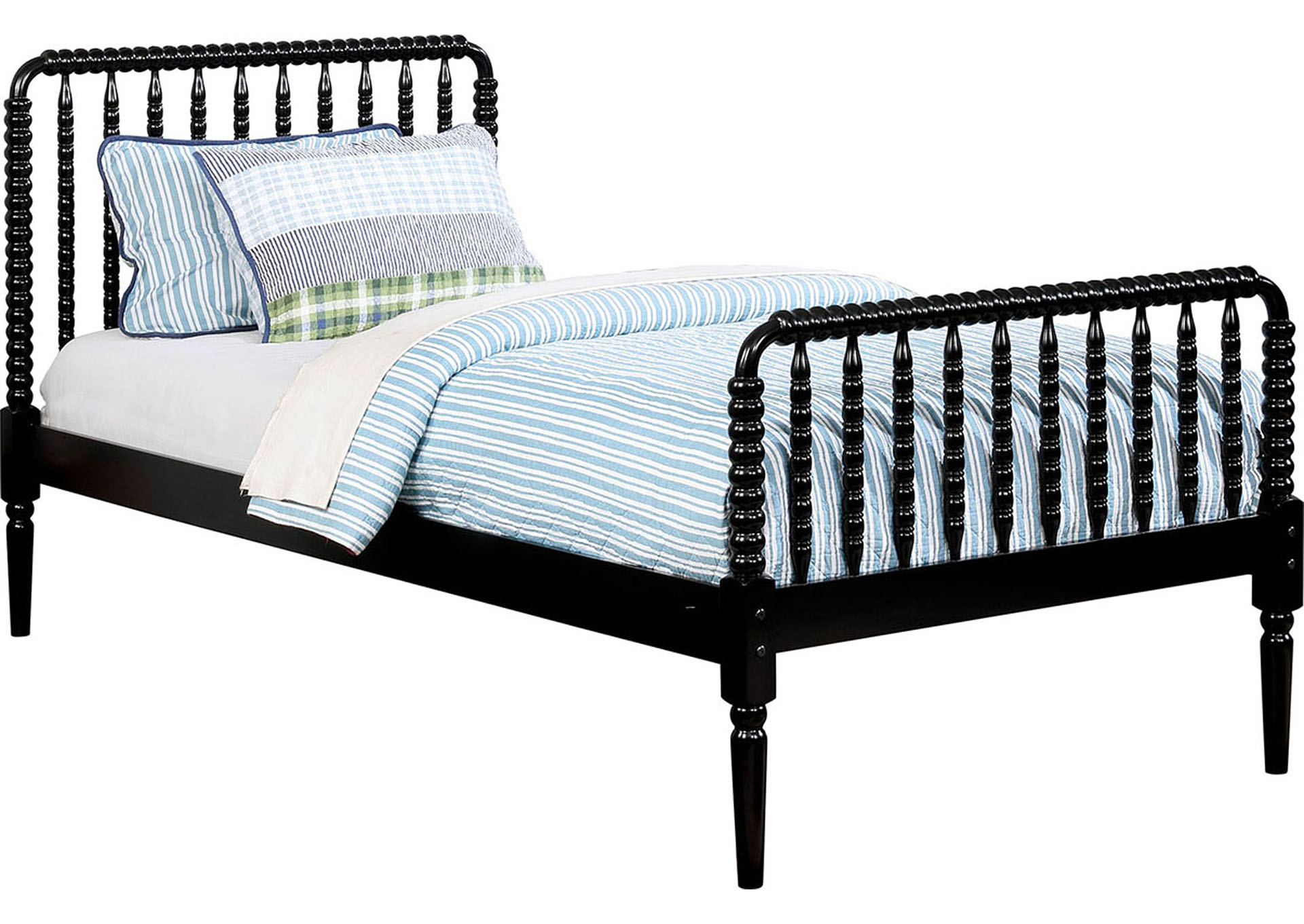 Jenny Black Twin Bed,Furniture of America