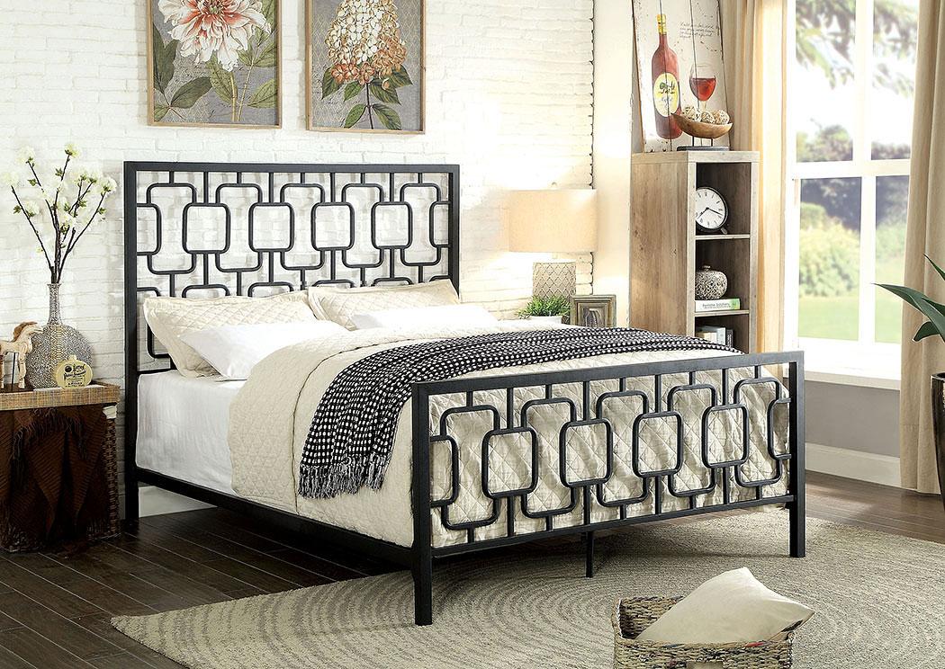 Furniture Liquidators - Baton Rouge, LA Cece Black Metal King Bed